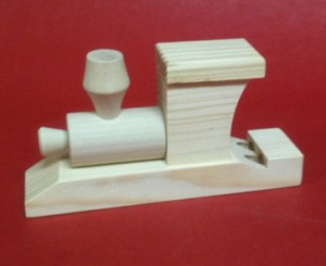 Wooden Steam Train Whistle Side