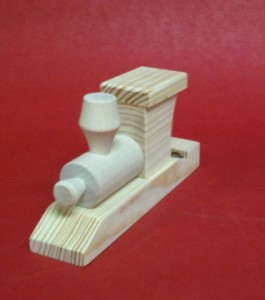 Wooden Steam Train Whistle Front