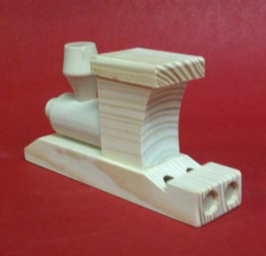 Wooden Steam Train Whistle Back